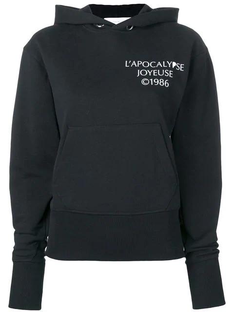 "Helmut Lang ""L'Apocalypse Joyeuse ©1986"" Cotton Hoodie In Black"
