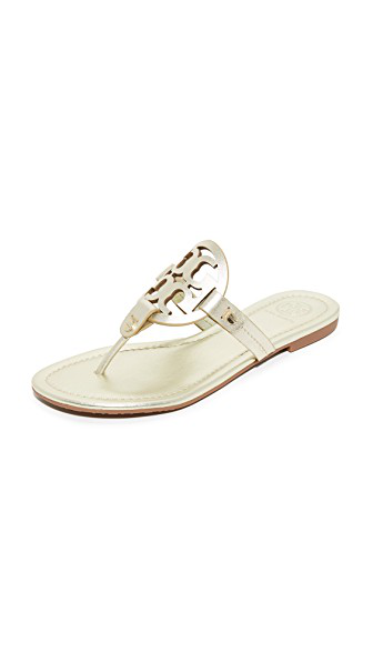 a83b6271c Tory Burch Women's Miller Thong Sandals In Spark Gold | ModeSens