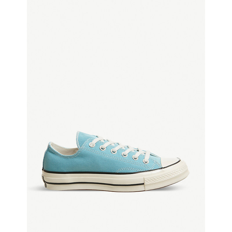 9f0af74ba671 Converse All Star Ox 70 s Canvas Low-Top Trainers In Shoreline Blue Black