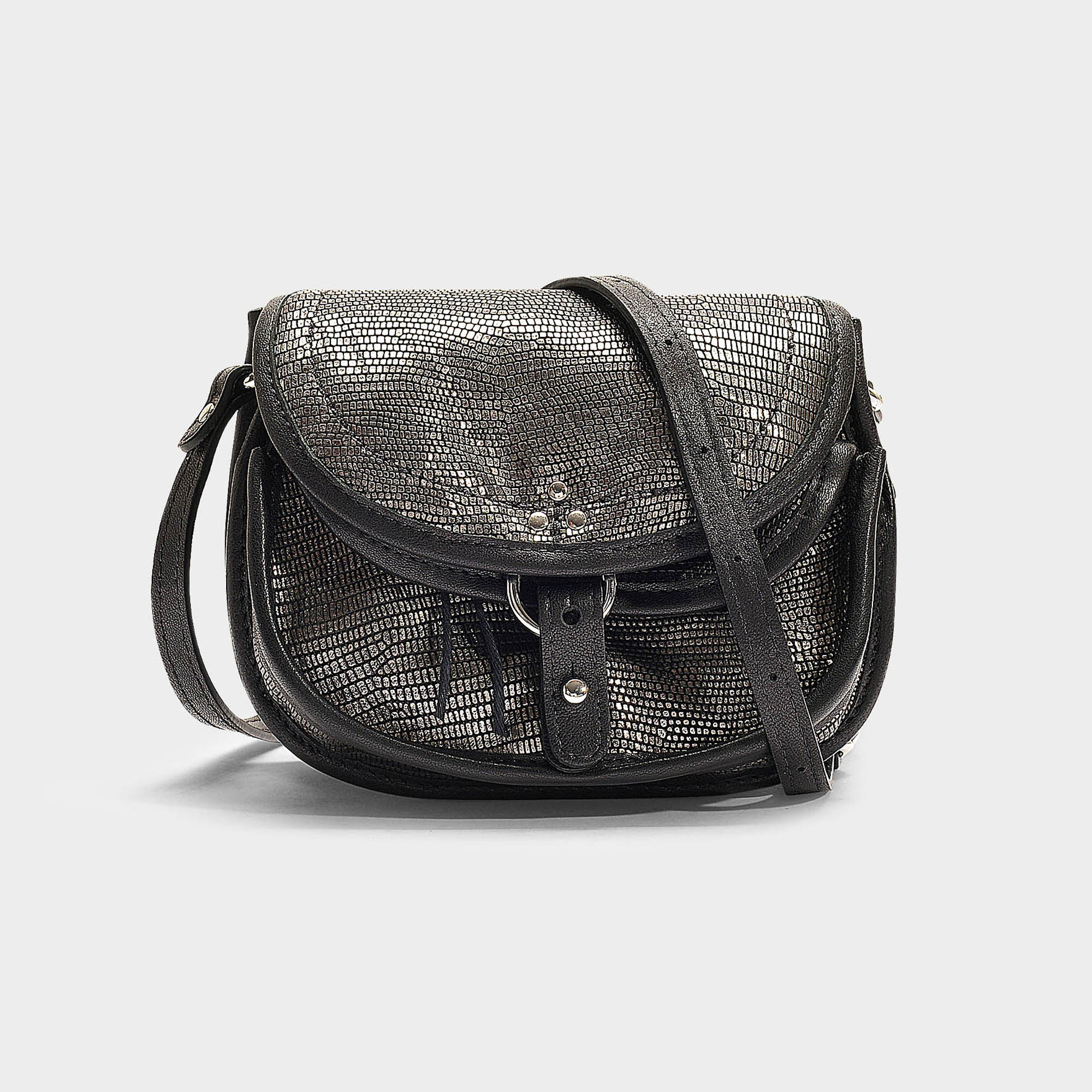 Jérôme Dreyfuss Felix Mini Bag In Metallic Lambskin Modesens