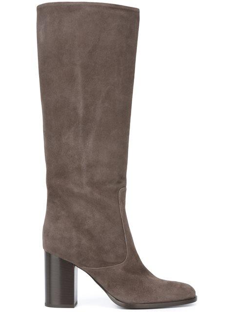 Veronique Branquinho Knee High Boots In Dove Grey