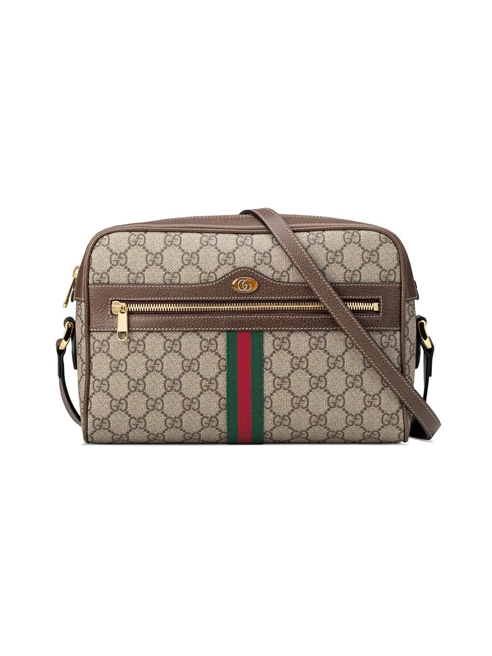 aa70b5357c8f Gucci Ophidia Gg Supreme Canvas Crossbody Bag - Beige In 8745 Beige ...