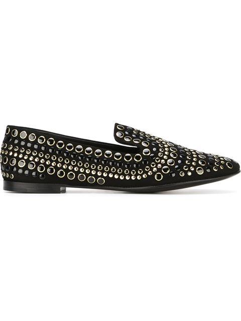 Giuseppe Zanotti 'Dalila' Smoking Slipper (Women) In Black Leather