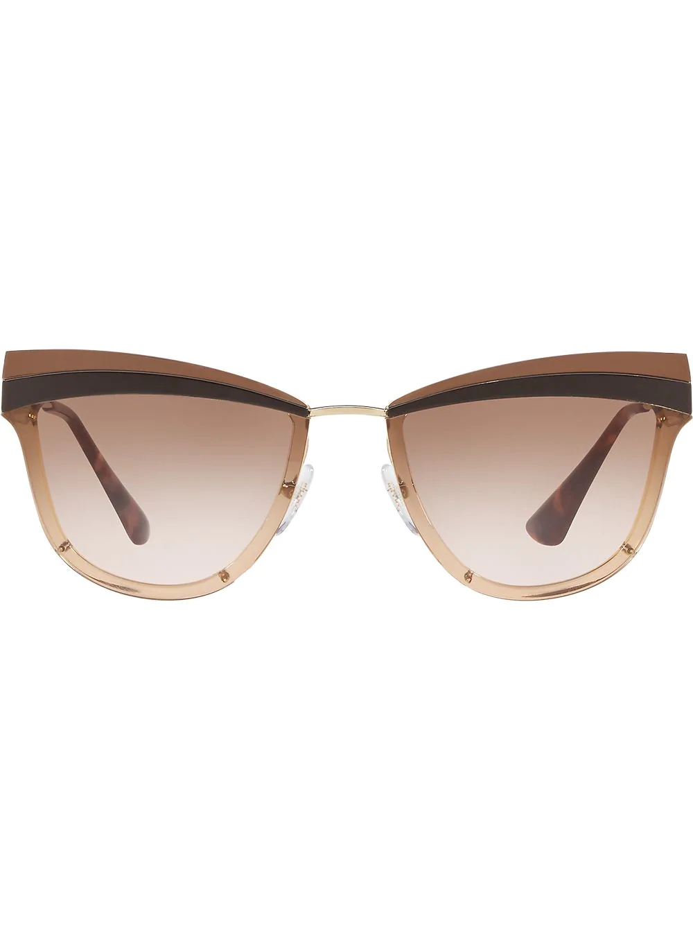 ba61dc86f1ac Prada Eyewear Cat-Eye Shaped Sunglasses - Farfetch In Gold | ModeSens