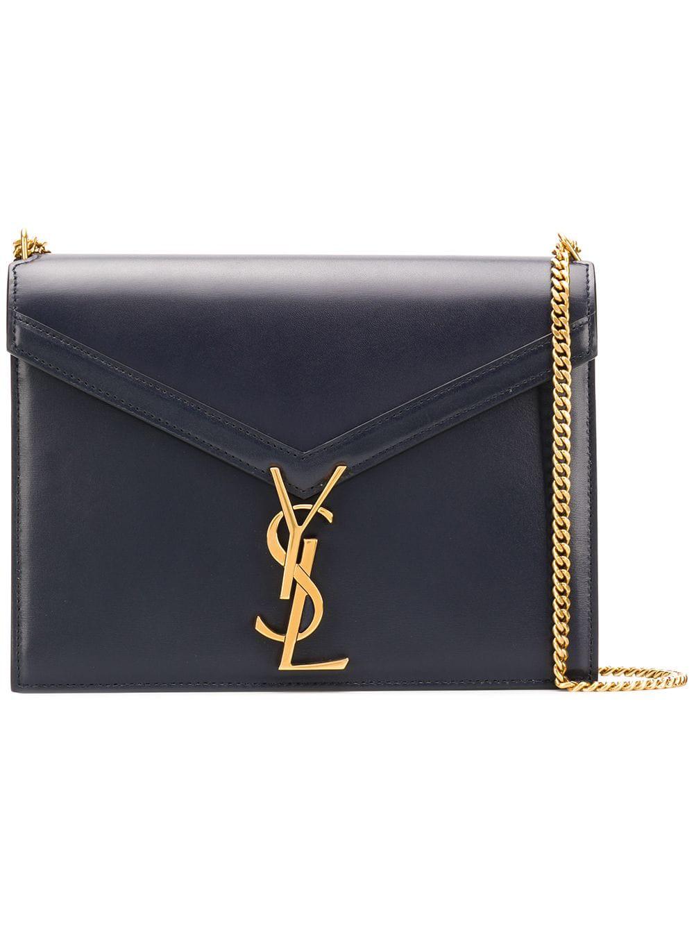 185fd822ee ... leather Cassandra Monogram bag from Saint Laurent features a gold-tone  chain shoulder strap