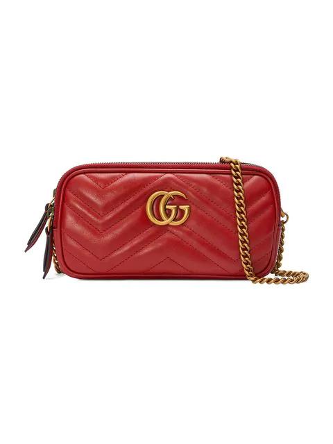 a936ce7a5 Gucci Gg Marmont Mini Zip-Top Camera Case Bag In Red | ModeSens