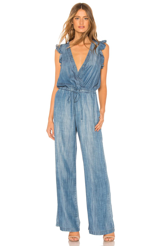 322c31c16046 Bella Dahl Ruffle Wide Leg Jumpsuit In Blue