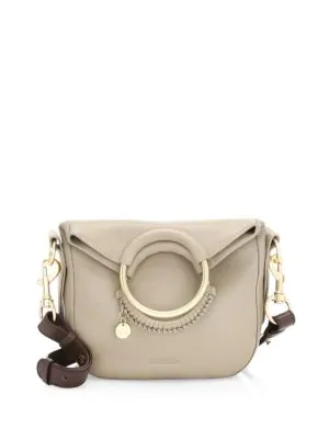 88b254d0a7156 See By ChloÉ Small Leather Monroe Bag In Motty Grey
