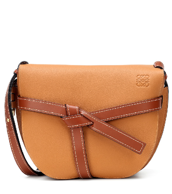 7333c3670caf5d Loewe Gate Mini Textured-Leather Shoulder Bag In Tan | ModeSens