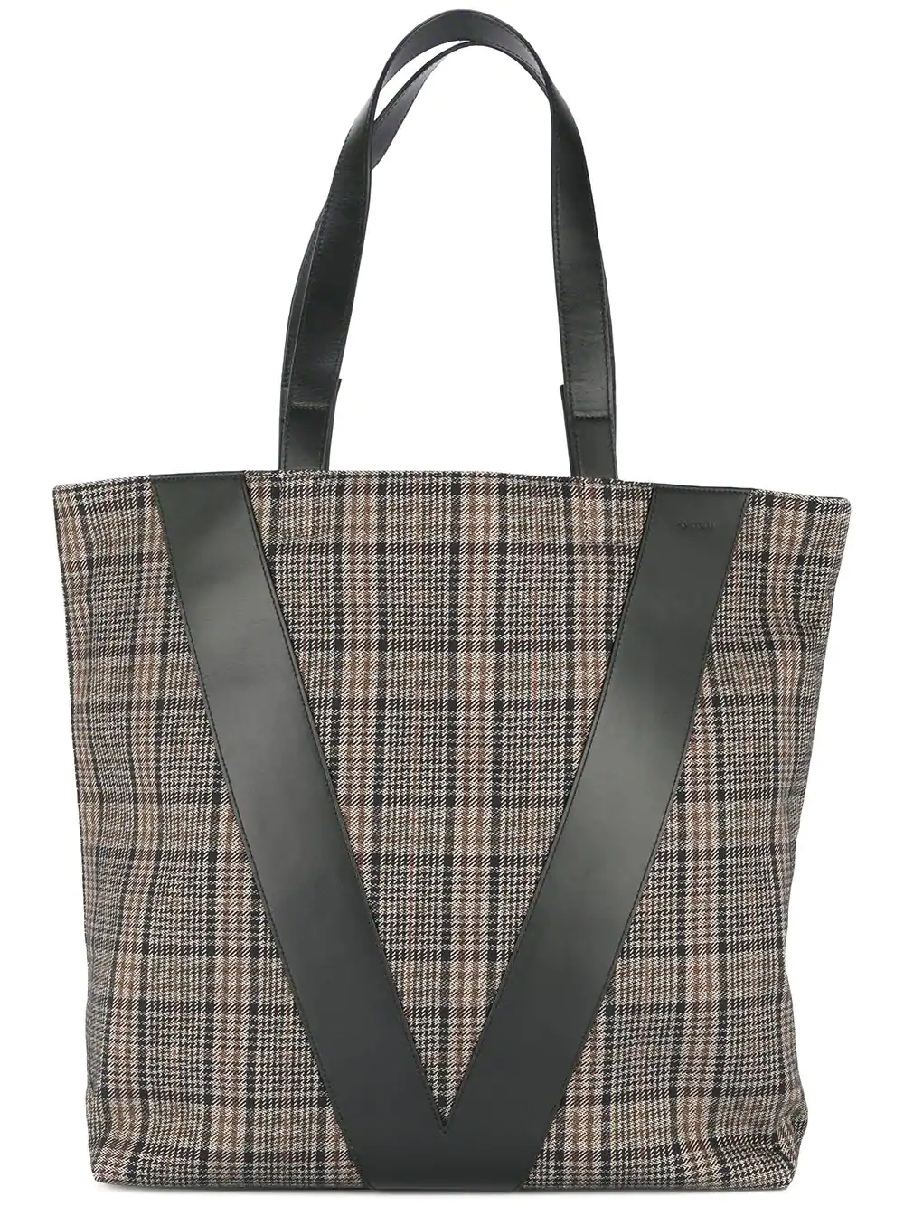 Ports V Plaid Shopper Tote - Brown In 002-Multicolor