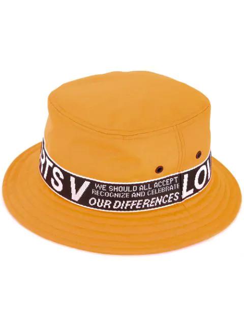Ports V Logo Flat Fedora Hat In Orange