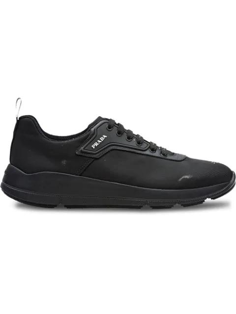 Prada Technical Fabric Sneakers In F0002