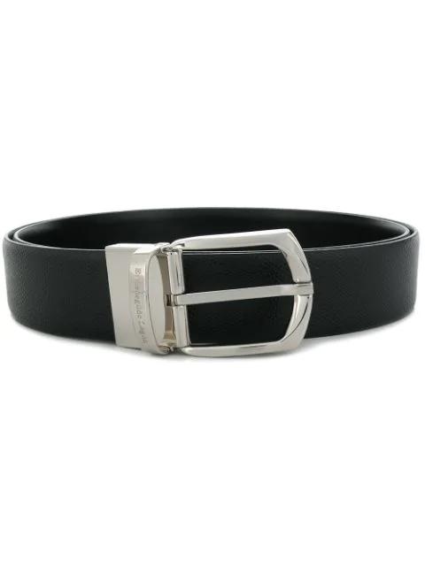 Ermenegildo Zegna Reversible Belt In Black