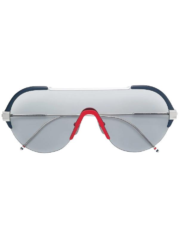 4384bffecb57 Thom Browne Eyewear Tinted Aviator Sunglasses - Silver In Metallic ...