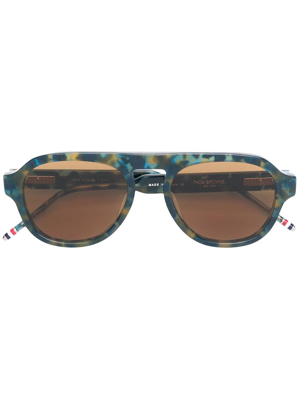 b999c9f76ee5 Thom Browne Eyewear Aviator Sunglasses - Blue
