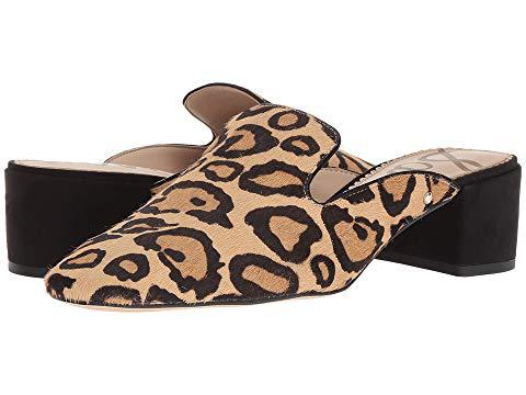 8a957adaf5e Sam Edelman Adair Leopard-Print Block-Heel Mule In New Nude Leopard ...