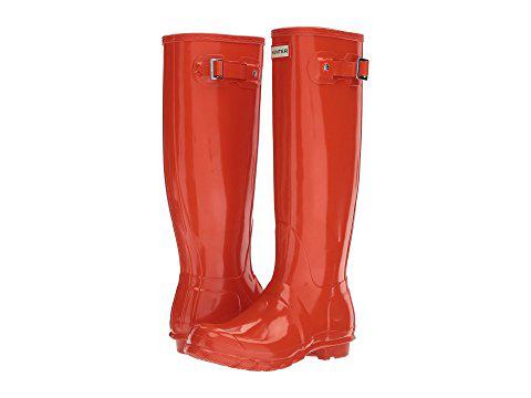 Hunter Original Tall Gloss Rain Boots, Orange