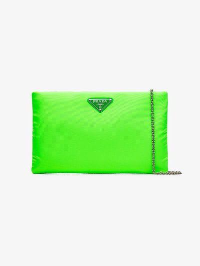 62c84ec1637e23 Prada Fluorescent Green Medium Padded Nylon Clutch | ModeSens