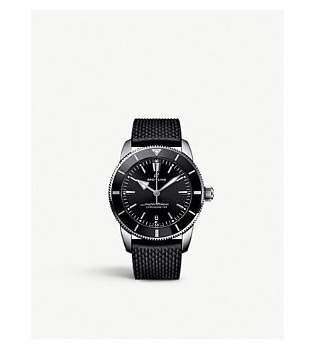 Breitling Ab201012/bf73 Superocean Heritage Ii Stainless Steel Watch In Black