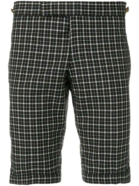 Thom Browne Windowpane Tartan Skinny Short - Blue