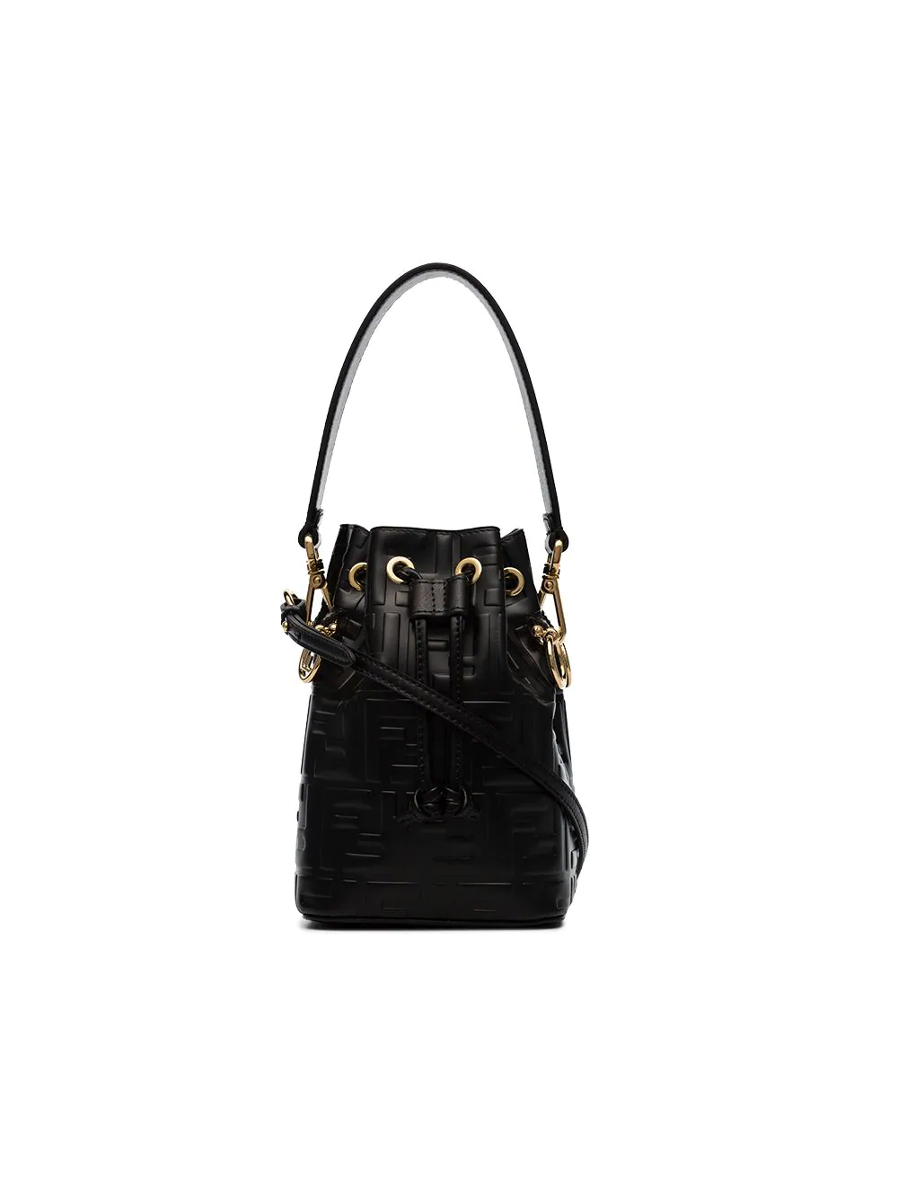 Fendi Black Mon Tresor Mini Leather Bucket Bag  92073ecc7c978