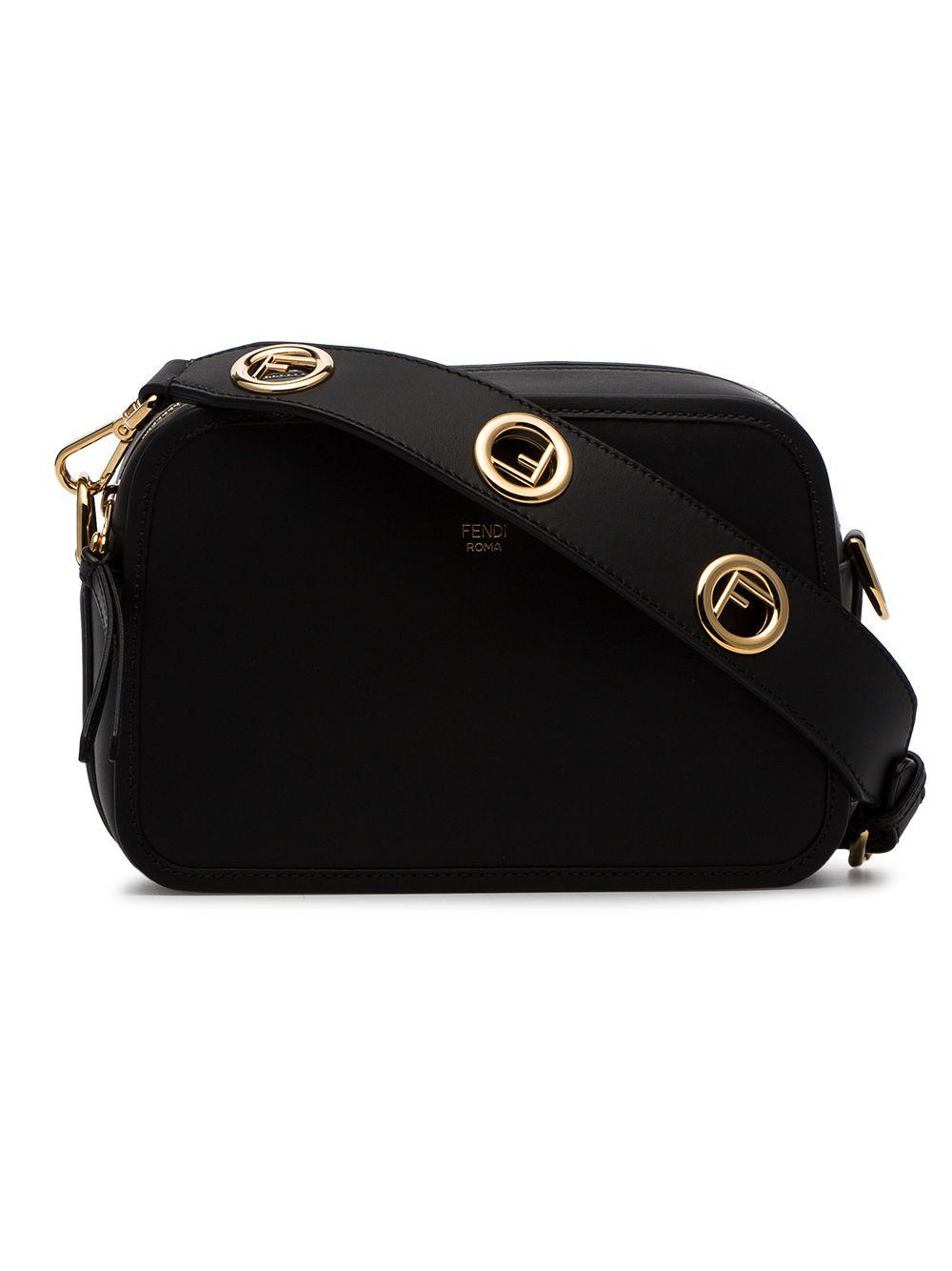 1c4ef3628052 Fendi Black Camera Leather Crossbody Bag
