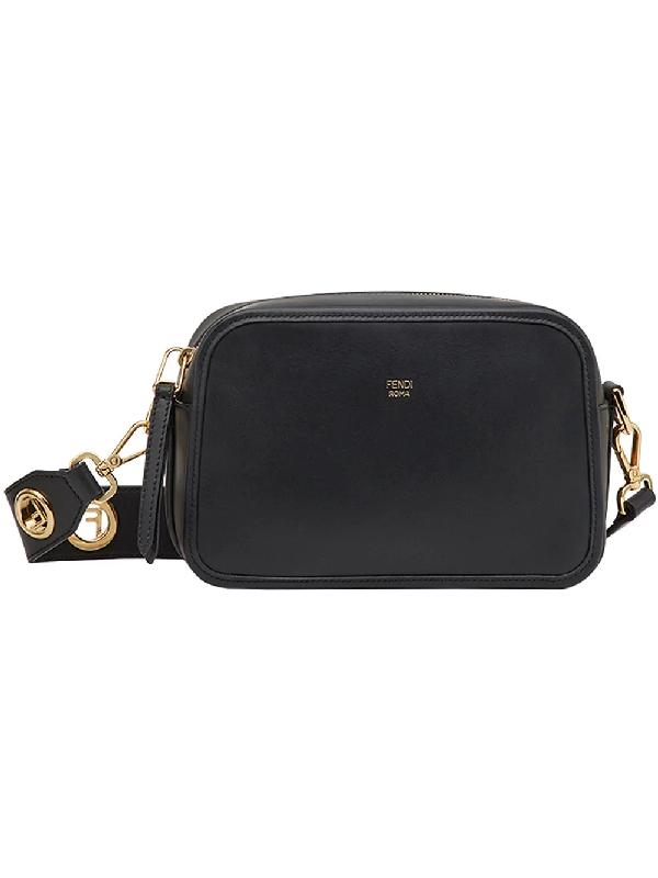 8f7176ab8d1 Fendi Camera Case Leather Cross-Body Bag In Black | ModeSens