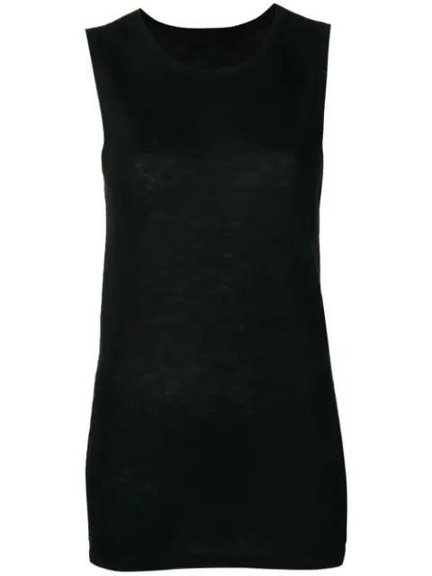 Frenckenberger Knit Tank Top In Black