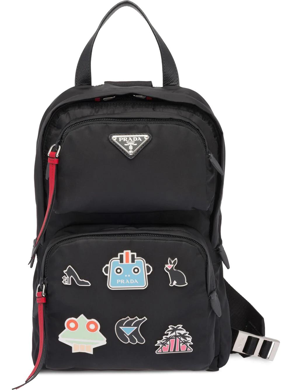 b8bf9a94df31 Prada One-Shoulder Backpack - Black | ModeSens