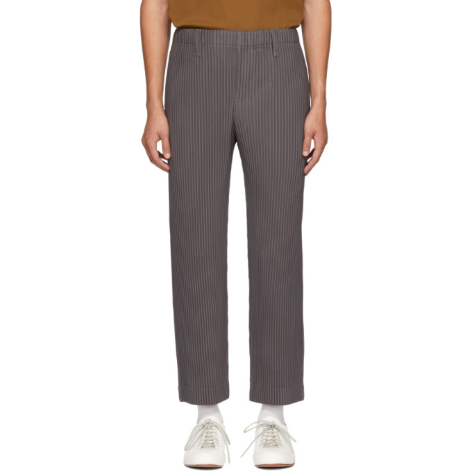 0b081f562 Homme Plisse Issey Miyake Grey Tailored Pleats Trousers In 12 Basic ...