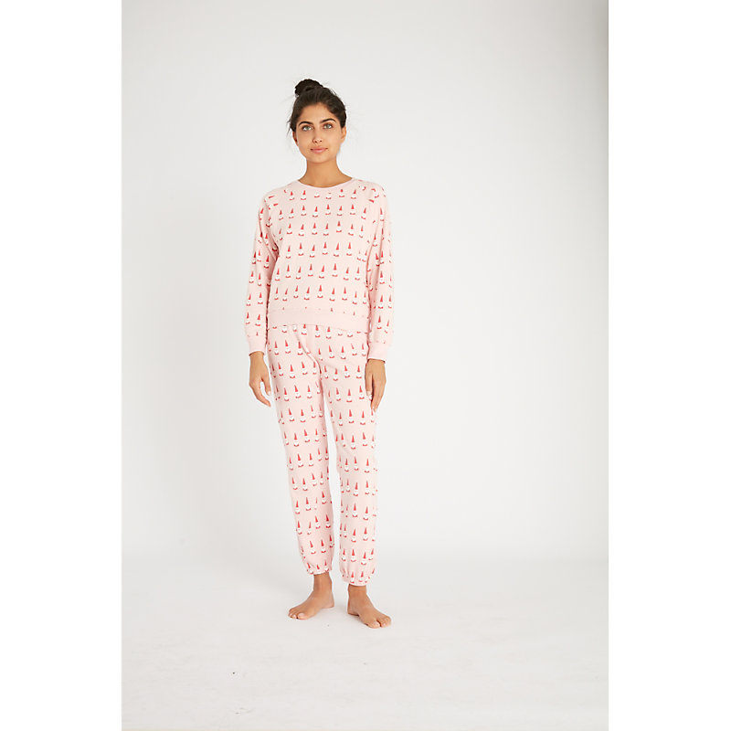 Wildfox Christmas Pajamas.Lil Claus Cotton Jersey Jogging Bottoms In Romantic