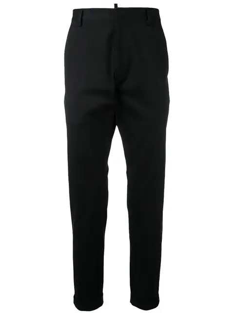 Dsquared2 Cropped Tailored Trousers In Black