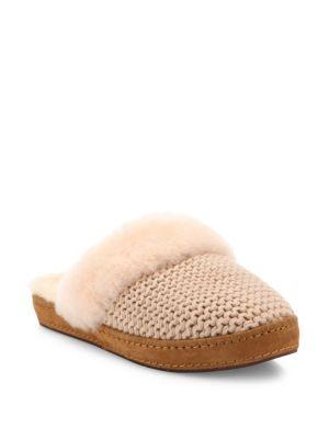 5f49ea88130 Ugg  Aira  Knit Scuff Slipper (Women) In Cream Knit