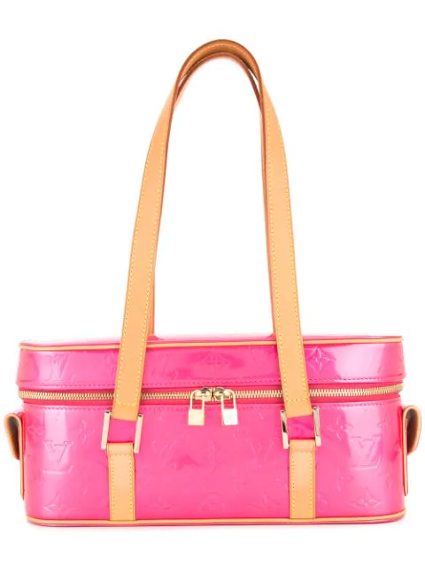 Pre-owned Louis Vuitton Vernis Sullivan Shoulder Bag In Pink