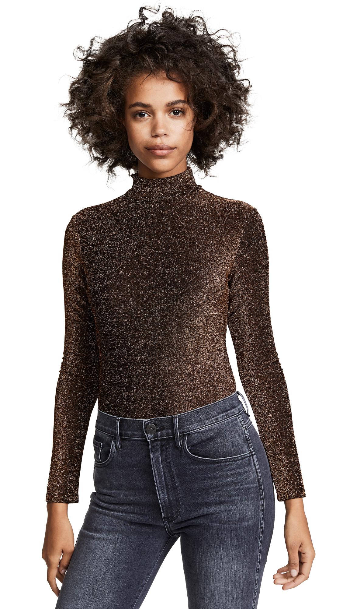 Blank Denim Star Woman Metallic Bodysuit
