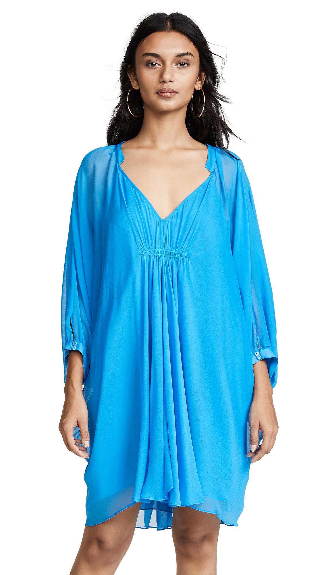 ae5d9f6c87c41 Diane Von Furstenberg Fleurette Cover Up Dress In Patio Blue | ModeSens