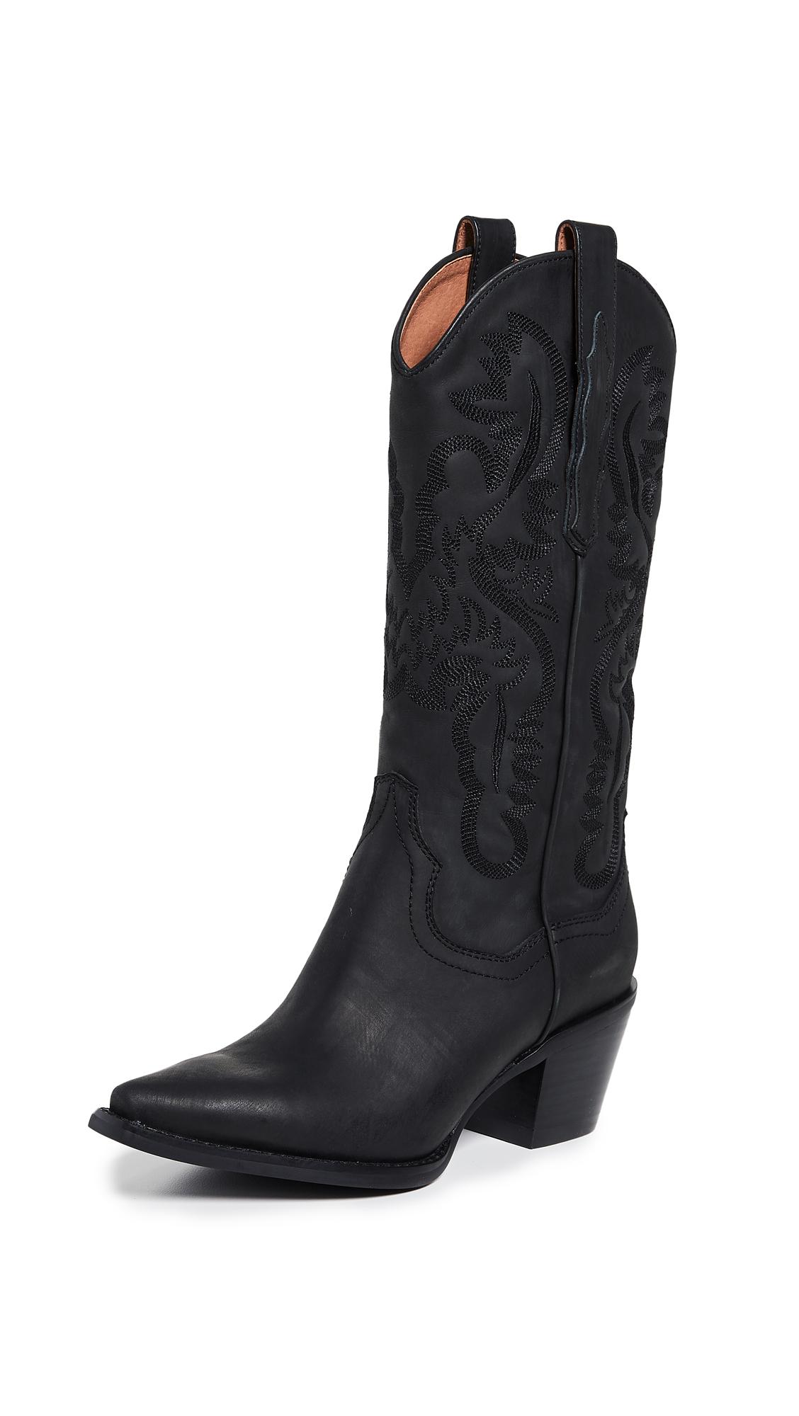 1557650d17c5 Jeffrey Campbell Dagget Western Boots In Black | ModeSens