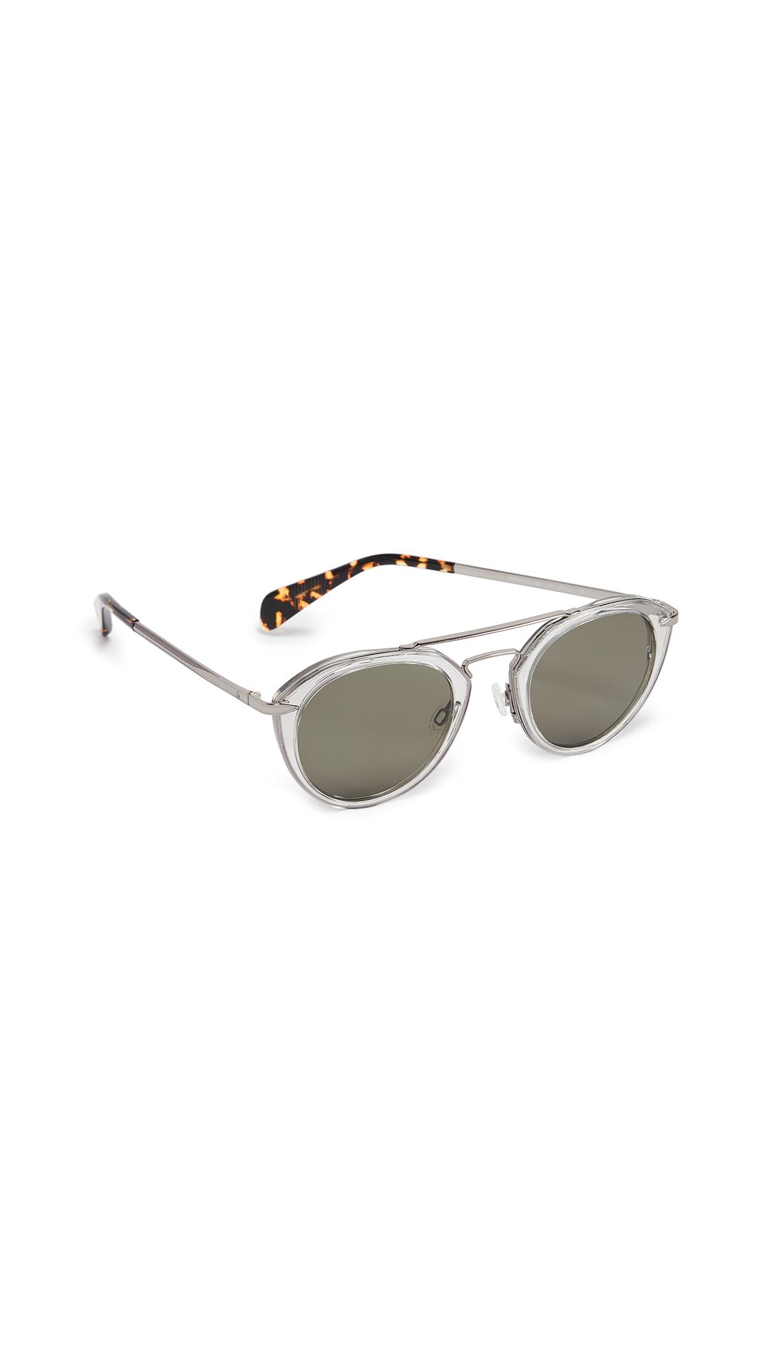 acd28a60c1343 Rag   Bone Aviator Sunglasses In Grey