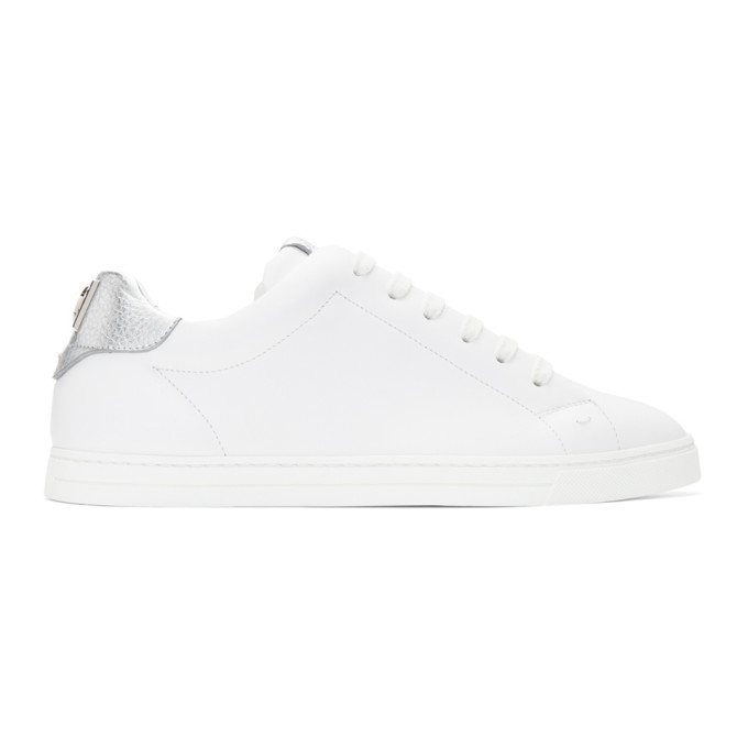 f14d50edccc22 Fendi White Vocabulary Sneakers In F14Ytuwarg