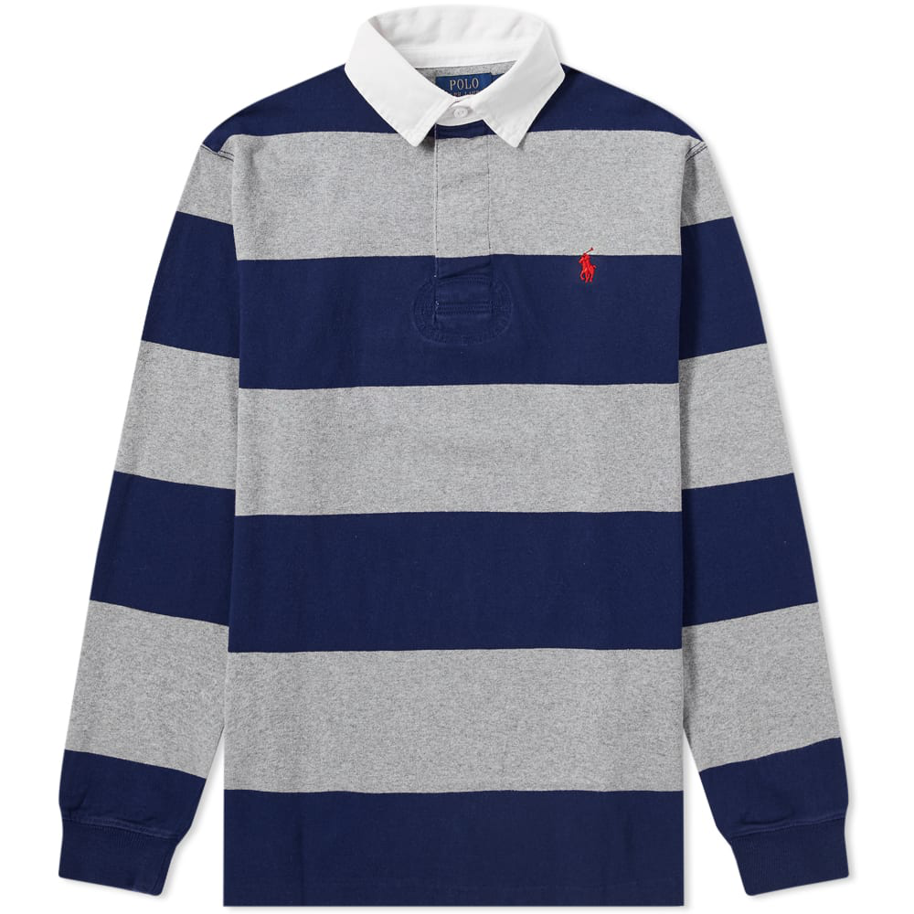 Shirt In Ralph Rugby Blue Stripe Polo Lauren UVpMSzq