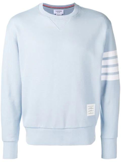 Thom Browne Engineered 4-Bar Loopback Sweatshirt - Blue