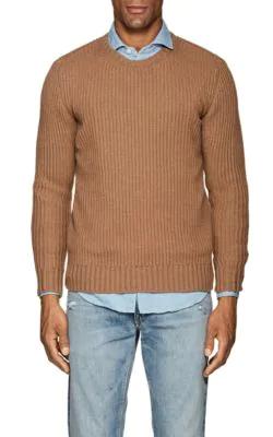 b160c2919 Eleventy Rib-Knit Cashmere Sweater - Tan Stripe