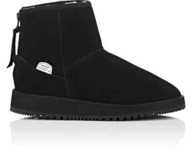 56690978953 Sherpa-Lined Waterproof Suede Ankle Boots - Black
