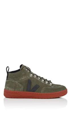 Veja Roraima Bastille Suede Sneakers In Green