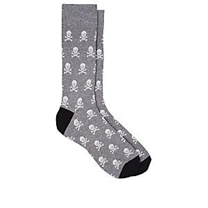 1edb762edff85 Corgi Skull-Pattern Cotton-Blend Mid-Calf Socks - Gray | ModeSens