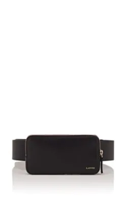 Lanvin Leather Belt Bag - Black