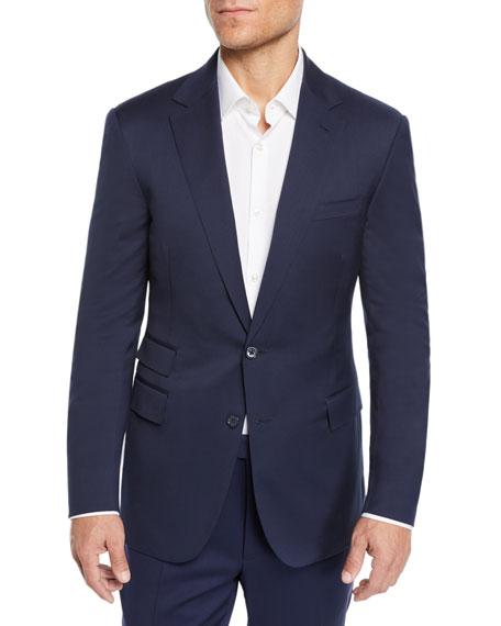 Ralph Lauren Douglas Wool Two-Button Suit In Blue