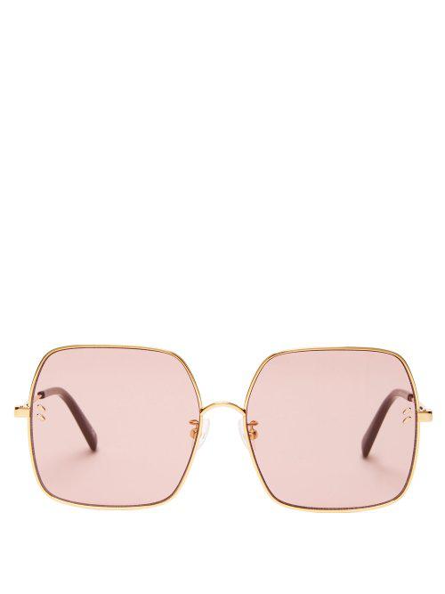 30d5368cdd Stella Mccartney Gold-Tone Square-Frame Sunglasses In Pink Gold ...