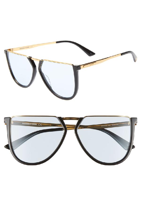d89147e300 Mcq By Alexander Mcqueen Mcq Alexander Mcqueen Women s Flat Top Aviator  Sunglasses
