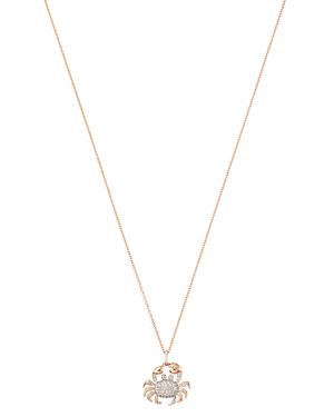 d3363ffecc6047 Bloomingdale's Pave Diamond Crab Pendant Necklace 14K Rose Gold, 0.40 Ct.  T.W. - 100